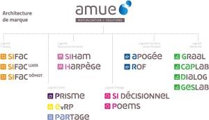 Brand architecture scheme for Amue
